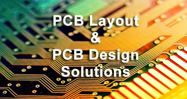 a green and yellow printed circuit board with PCB layout & pcb design solutions